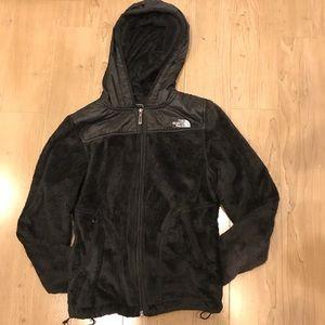 Women's XS North Face fleece black jacket